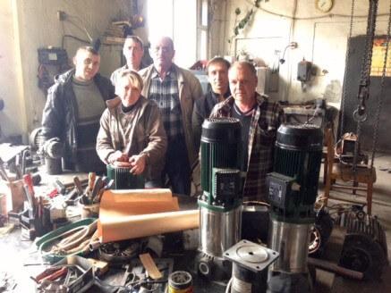 Коллектив цеха по перемотке электродвигателей