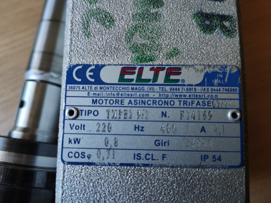 Ремонт двигателя шпиндель ELTE TMPB2 9/2 с водяным охлаждением