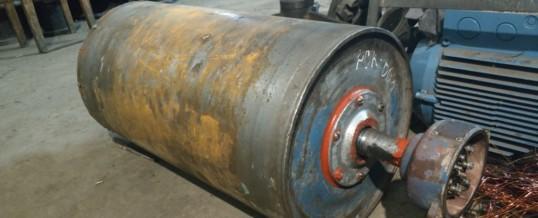 Ремонт с перемоткой мотор барабана ленточного транспортера
