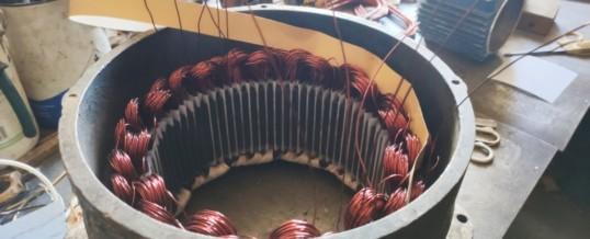 Ремонт статора тормозной машины крана